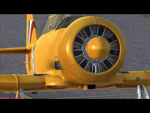 A2A Simulations T6 Texan Cold Start And Short Flight Beautiful Sound