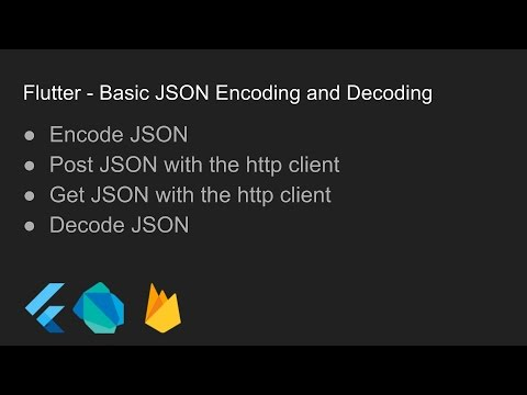 Flutter - JSON Encoding and Decoding with the Firebase Rest API