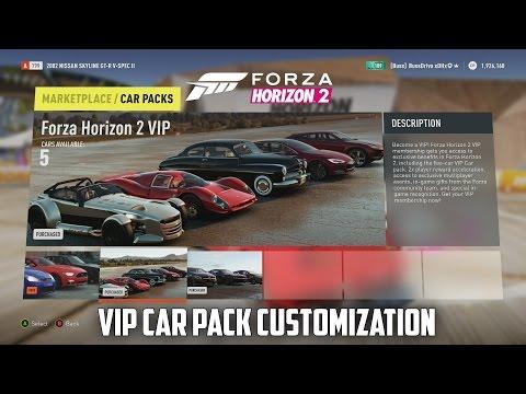 Forza Horizon 2 - V I P Car Pack Customization - YouTube