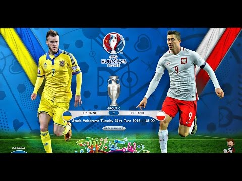 MATCH UKRAINE vs POLAND EURO 2016 GROUP C 21.06.2016