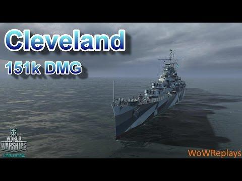 World of Warships: Cleveland, 151k DMG