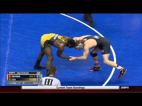 2015 NCAA 197 Lb Semi Final: J'Den Cox (Mizzou) V Kyle Snyder (tOSU)