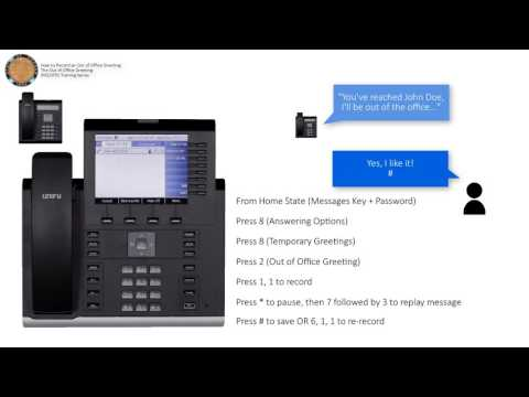 Voicemail - Record an Out-of-Office Greeting