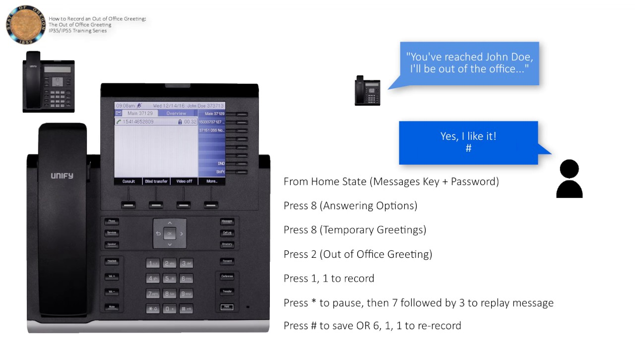 Voicemail record an out of office greeting youtube voicemail record an out of office greeting m4hsunfo