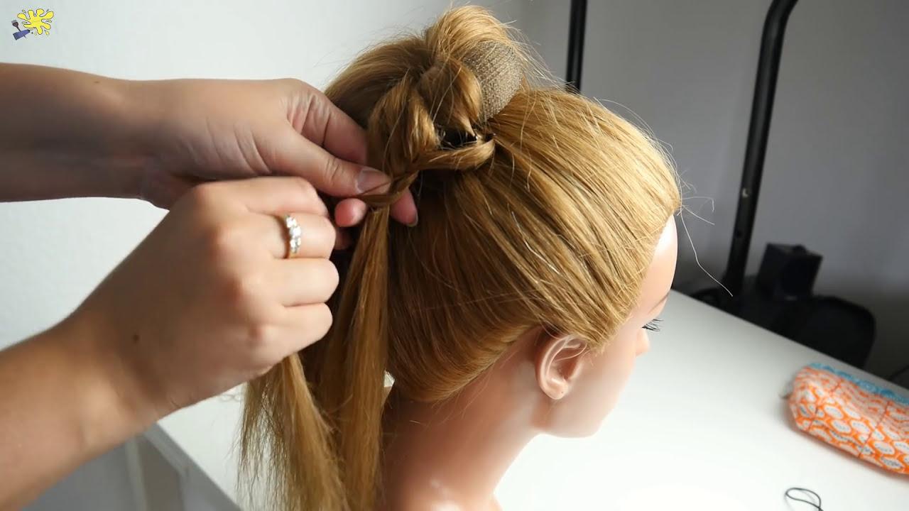 Um Den Dutt Flechten Braided Roll Hairtutorial Youtube