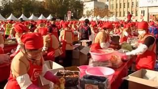 Кулинарный рекорд в Сеуле: 130 тонн кимчи (новости)