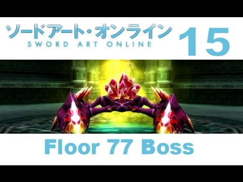 Sword art online hollow fragment ps vita walkthrough 15 for Floor 100 boss sao