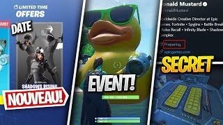 "DATE of the PACK ""LEGENDS of OMBRES"", a CANARD GÉANT - Other on FORTNITE! (Fortnite News)"