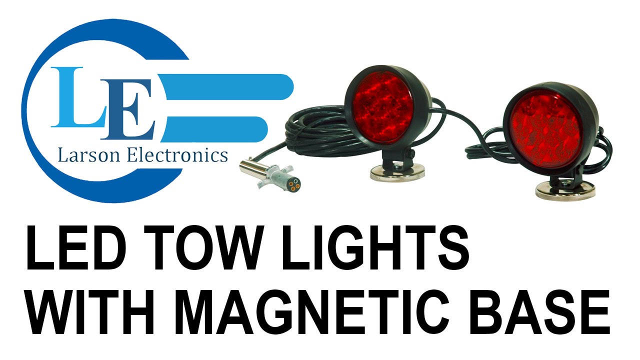 medium resolution of led tow lights with magnetic base 30 cable weather proof 12vdc 4 pin trailer plug youtube