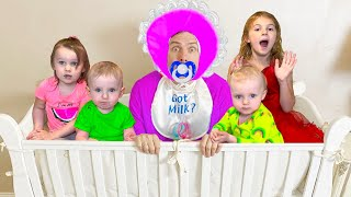 Five Kids Nanny for Dad Song Children's Songs and Videos