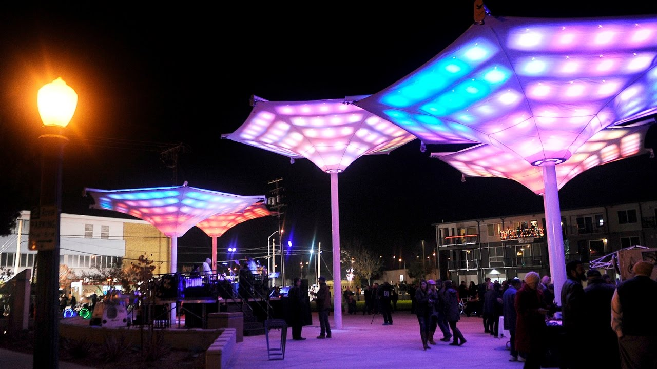 New Cultural Arts District Park Lights Up Downtown Fresno Thursday Night