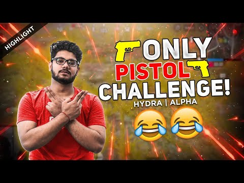 ONLY PISTOL CHALLENGE + NO CHICKEN DINNER 😂 || H¥DRA | ALPHA PUBG MOBILE FUNNY HIGHLIGHTS!! 😍