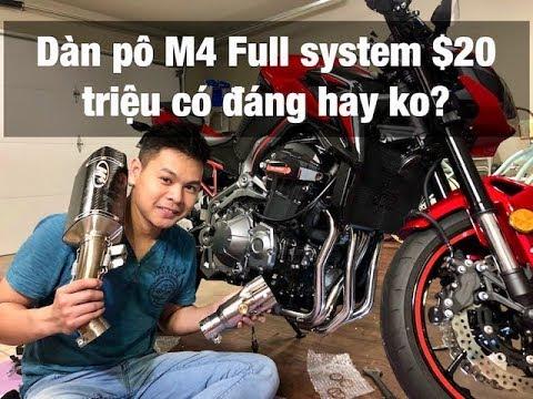 Vlog 47: gắn pô fullsystem cho Z900   DELKEVIC HEADER WITH M4 EXHAUST  INSTALLED FOKAWASAKI Z900 by Huy Cao
