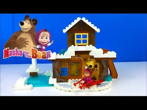 Thumbnail: PLAY BIG BLOXX MASHA AND THE BEAR - BEAR'S WINTER HOUSE WITH SNOWMAN & STOP MOTION - UNBOXING