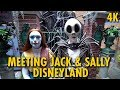 Meeting the Jack & Sally from Nightmare Before Christmas in New Orleans Square | Disneyland