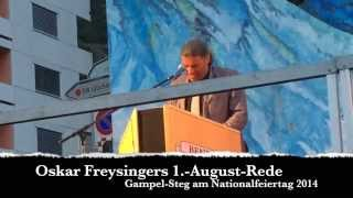 Oskar Freysingers 1.-August-Rede 2014