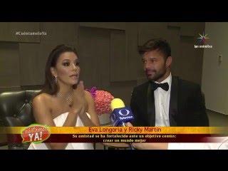 ¡Ricky Martin y Eva Longoria, un matrimonio filantrópico! | Cuéntamelo YA!