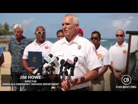 Ocean Safety Press Conference: Jim Howe - Honolulu Emergency Services Department