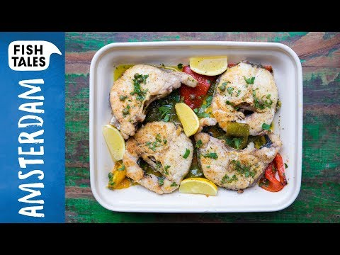 HAKE Steaks & Roasted Peppers | Bart Van Olphen