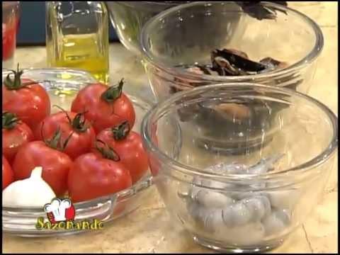Pinchos de mejillones y camarones