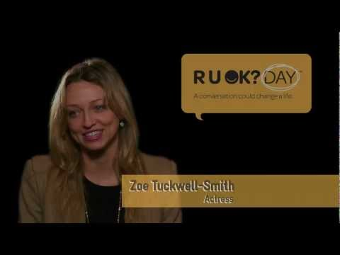 Actor Zoe Tuckwell-Smith shares what happened when she asked a friend R U OK?