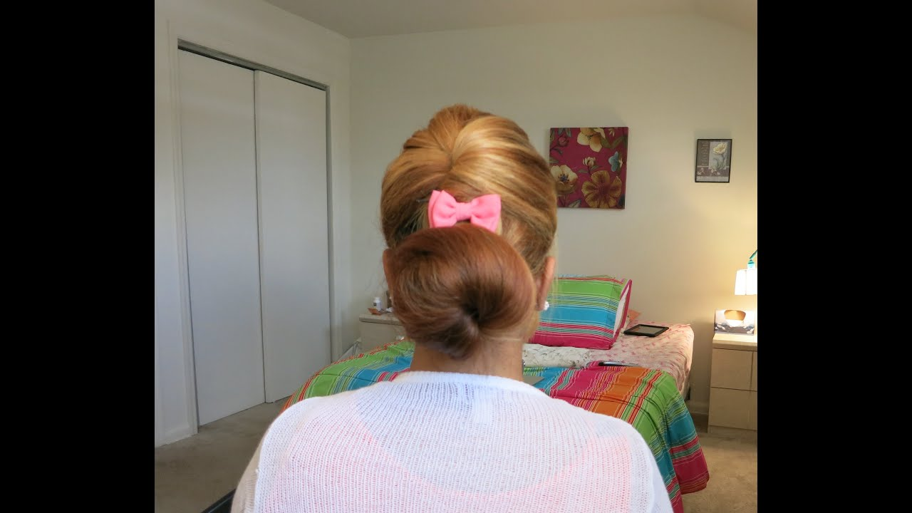 Quick and easy bump bun updo hairstyle tutorial youtube quick and easy bump bun updo hairstyle tutorial pmusecretfo Gallery