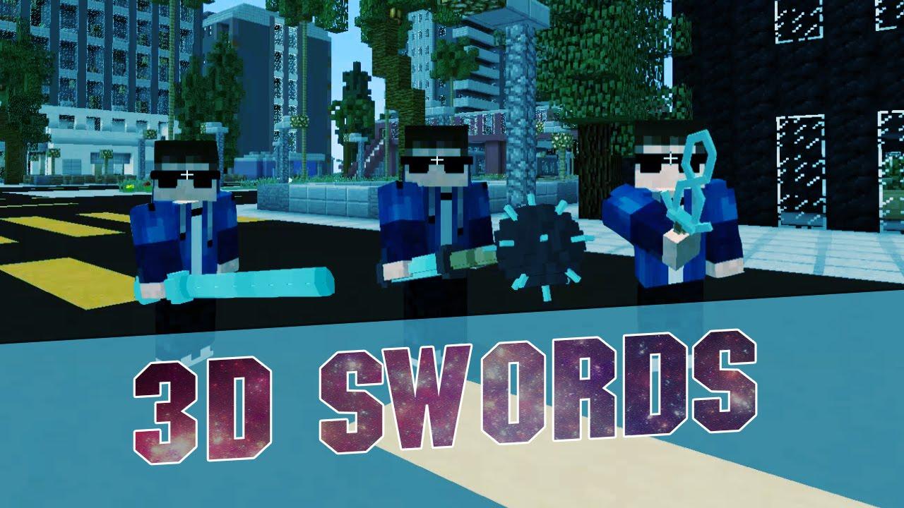 Minecraft Resource Pack 3d Sword Packs Epic Minecraft 3d Swords