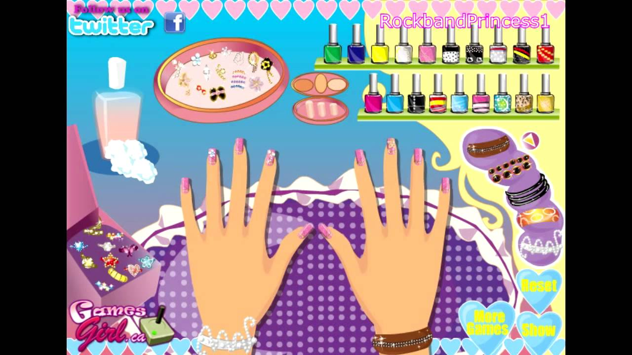 barbie nail polish salon manicure