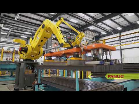Automated System Uses Robots to Hang Steel I-Beams for Washing & Coating – TranTek Automation