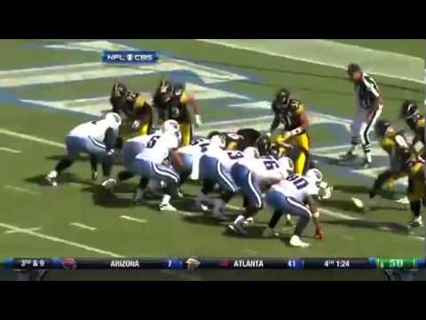 Troy Polamalu Flying Superman Sack vs Titans