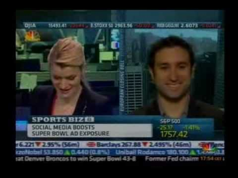 Social Media & The Super Bowl - CNBC European Closing Bell