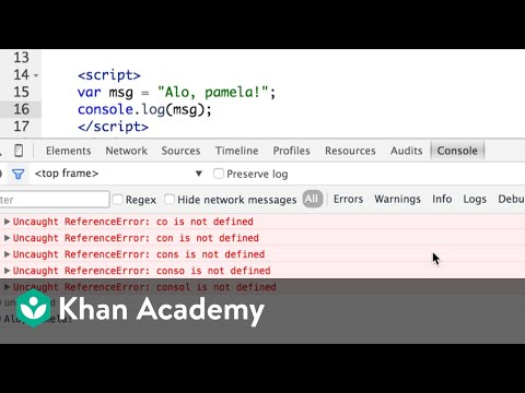 Debugging Webpages With The Browser Console | Computer Programming | Khan Academy
