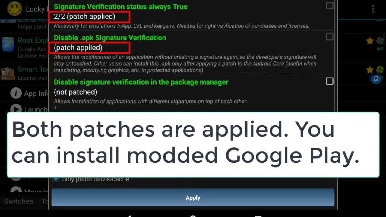 Method #4  Remove license Verification on Android  Modded Google Play (need  root)  Lucky Patcher