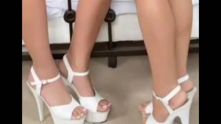 Tacones Color Blanco Para Mujer