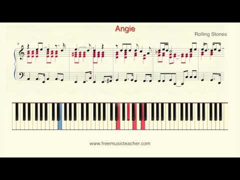 """How To Play Piano: Rolling Stones """"Angie"""" Piano Tutorial by Ramin Yousefi"""