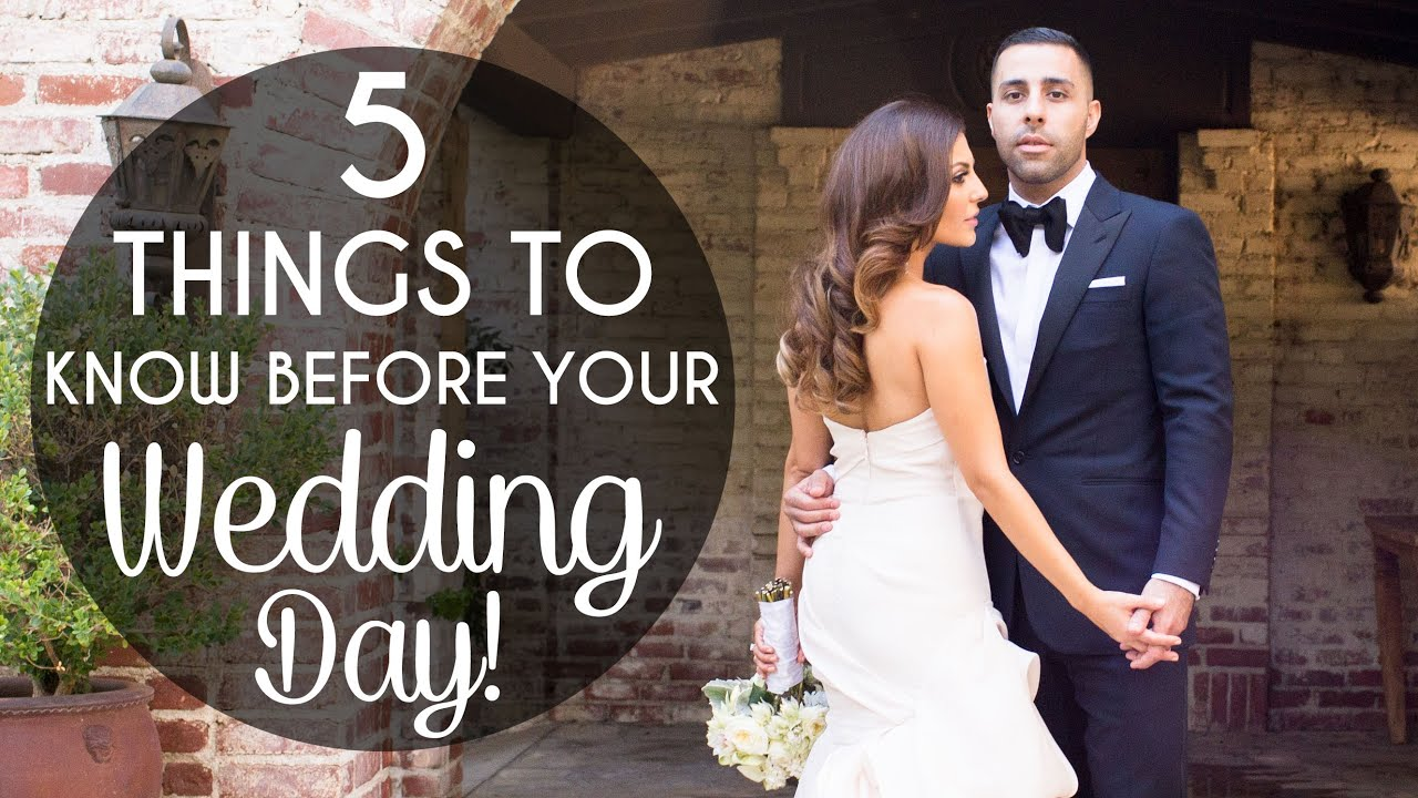Wedding Planning Part Iii 5 Things To Know Before Your Day You