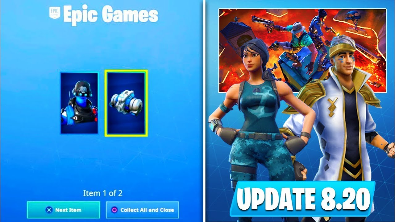 how to get new free carbon skin bundle new skins more 8 20 fortnite update - epic games fortnite update 820