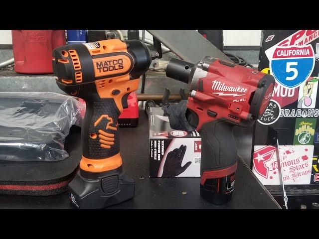 Video #2 Matco 16 volt stubby vs milwaukee tools 12 volt stubby