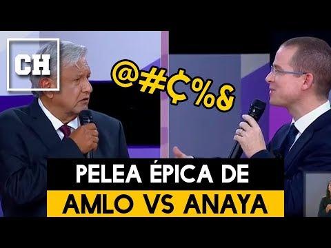 La pelea más épica de AMLO vs ANAYA en el Segundo Debate Presidencial  Carlos Chavira