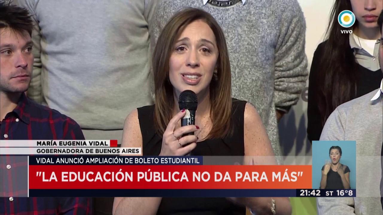 Tv Pública Noticias Vidal La Educación Pública No Da Para Más