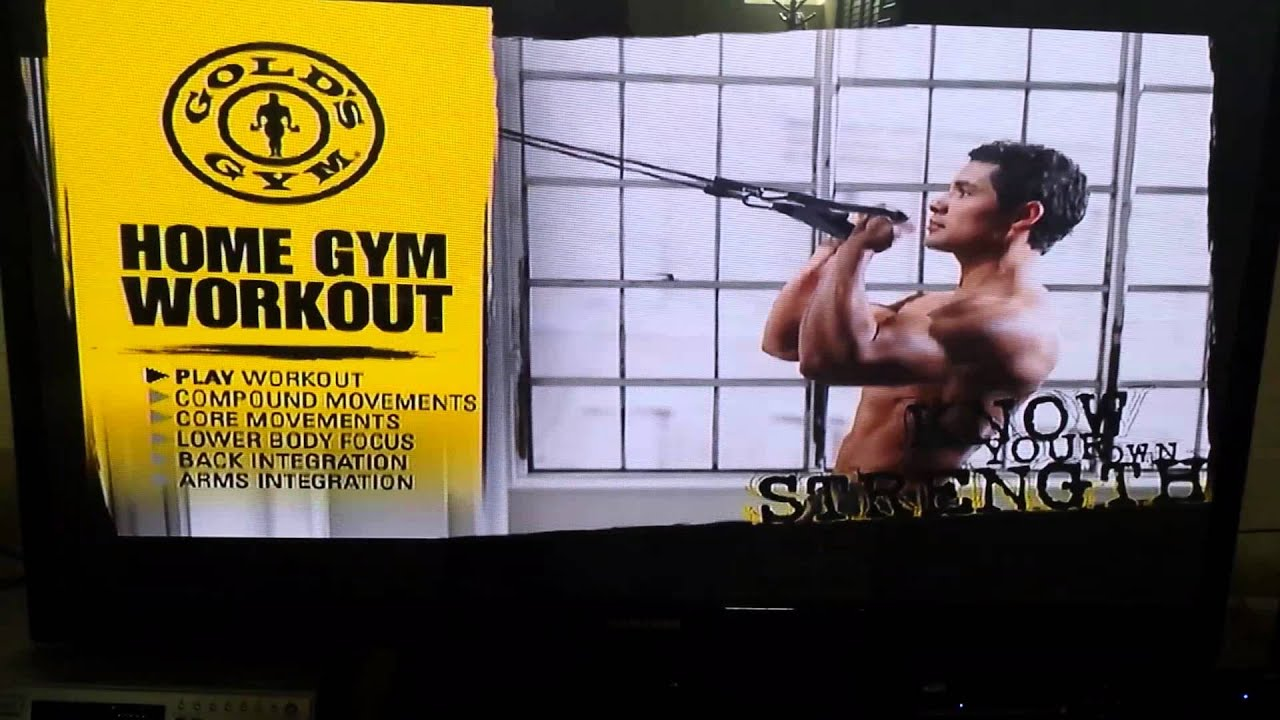 Gold Gyms Home Gym Lower Body Workout  sc 1 st  YouTube & Gold Gyms Home Gym Lower Body Workout - YouTube