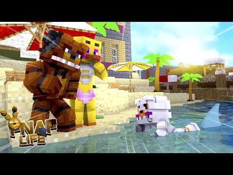 Minecraft FIVE NIGHTS AT FREDDY'S LIFE!! - DID FREDDY & CHICA'S BABY BOY DROWN IN THE OCEAN??