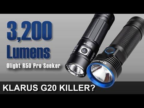 3,200 Lumen Klarus Killer - Olight R50 Pro Seeker
