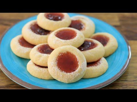 Thumbprint Cookies Jam Cookies Recipe