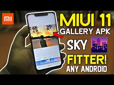 MIUI 11 Gallery APK With Sky Touch Filter | Working On Any Xiaomi Redmi Devices | No Root