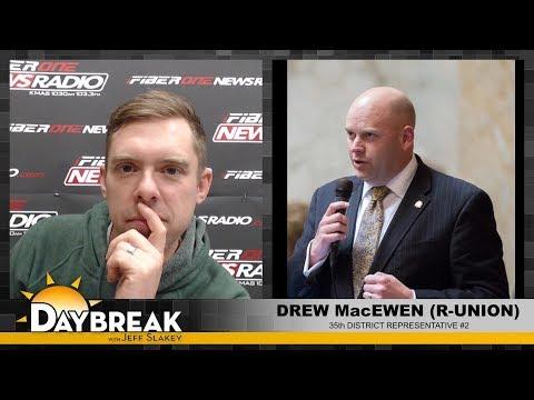 35th District Rep. Drew MacEwen on Daybreak - 02/21/18