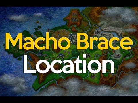 Pokemon X and Y Where to get a Macho Brace
