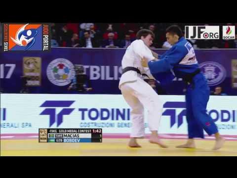 Judo Grand Prix Tbilisi 2017 Final -73kg MACIAS Tommy (SWE) vs. BOBOEV Giyosjon (UZB)