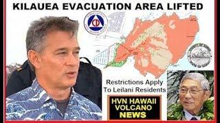 HAWAII Kilauea Volcano Evacuation Order lifted by Mayor (9/7/2018)