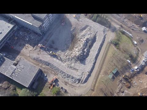 Demolition Of CowGlen National Savings Bank 2017.. Part 1